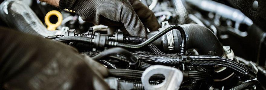 moteur d'une voiture diesel